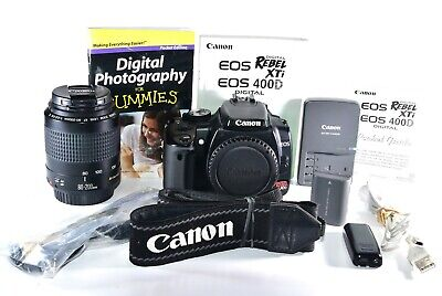 Canon Rebel XTi 400D DSLR Camera with Canon 80-210mm AF Zoom Lens + More