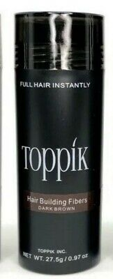 Toppik Hair Building Fibers  Dark Brown 27.5g Free Fast Shipping