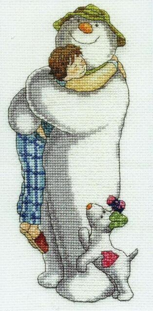 DMC Cross Stitch Kit - The Snowman Group Hug BL1044/64