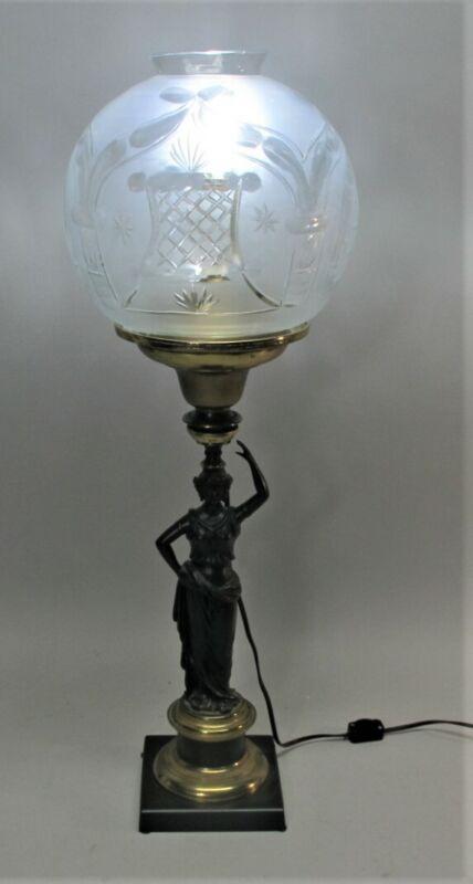 Rare CORNELIUS & CO. Neo-Classical Bronze Solar Lamp  c. 1860  antique