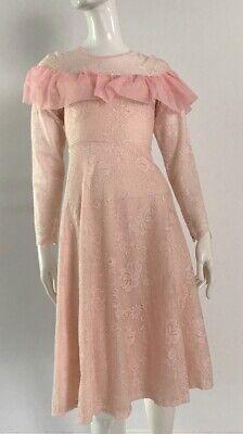 80s Dresses | Casual to Party Dresses Vintage Pink 1980's Lace Dress $23.19 AT vintagedancer.com