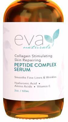 Peptide Complex Serum by Eva Naturals (2 oz) - Best Anti-Aging Face Serum