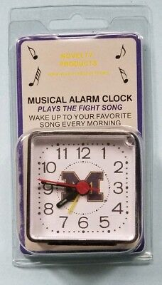 NCAA UNIVERSITY OF MICHIGAN MINI TRAVEL ALARM CLOCK OFFICIALLY LICENSED NIP