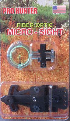 - GWS Pro Hunter Micro Fiber Optic GREEN Archery Bow Sight 1 PIN adjustable