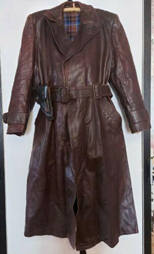 WW2  German leather trench coat dress WW II uniform USSR soviet
