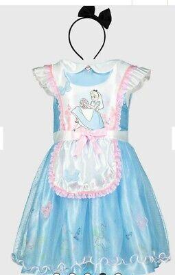 Alice And Wonderland Costume For Kids (Disney Alice in Wonderland Blue Costume For Girls)