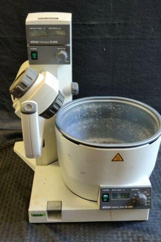 Buchi R-205 Rotary Evaporator Rotavapor w/ B-490 Heating Bath, Tested Working