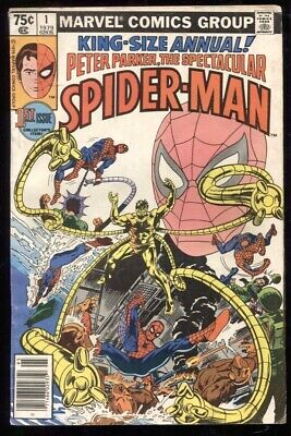 SPECTACULAR SPIDERMAN (1976) ANNUAL #1 4.0 VG AND MEN SHALL CALL HIM OCTOPUS