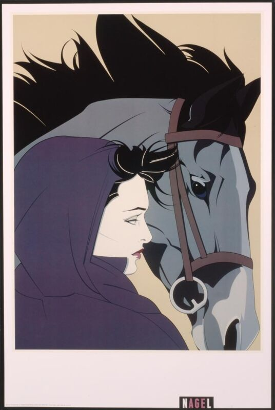 Patrick Nagel MONTANA Rare Lithograph Out of Print Woman & Horse New Art