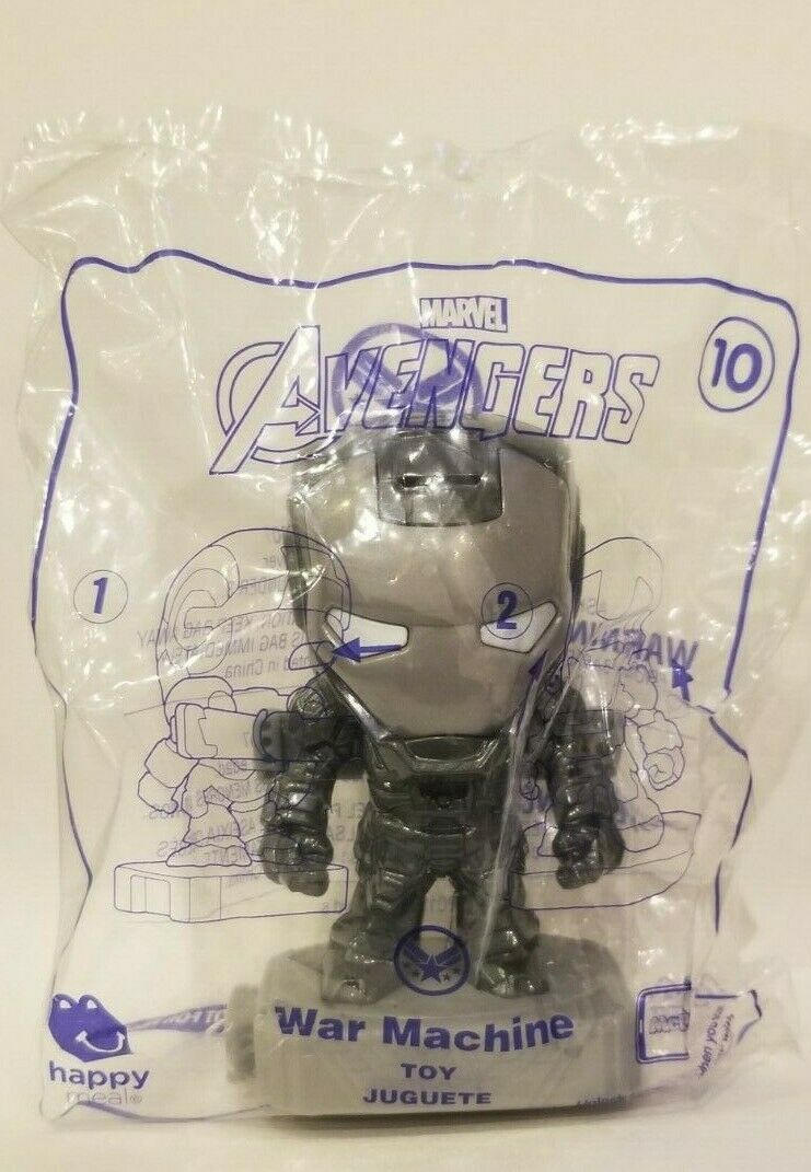 Avengers (2019) McDonalds Happy Meal Toys- Fast Shipping! #10 War Machine