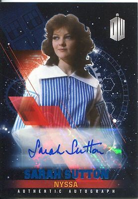 Doctor Who Timeless Blue Parallel [##/50] Autograph Card Sarah Sutton