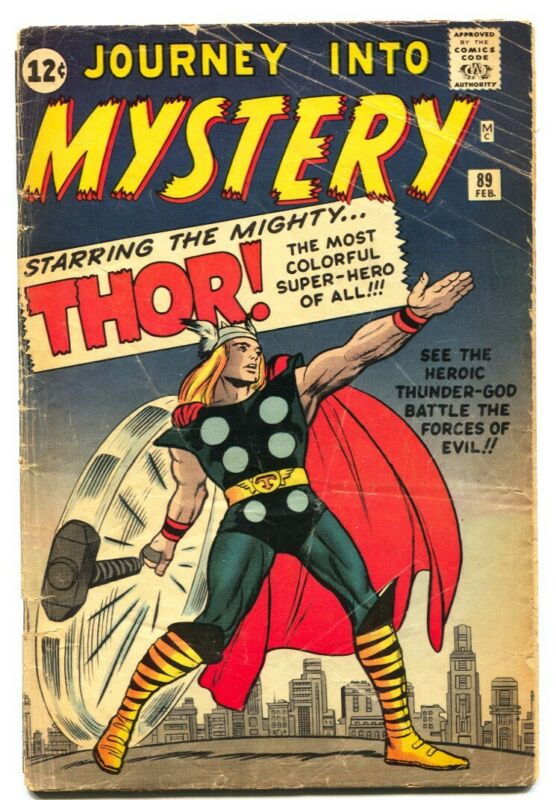 Journey Into Mystery #89 comic book Jack Kirby cover - Silver-Age Marvel - 1963