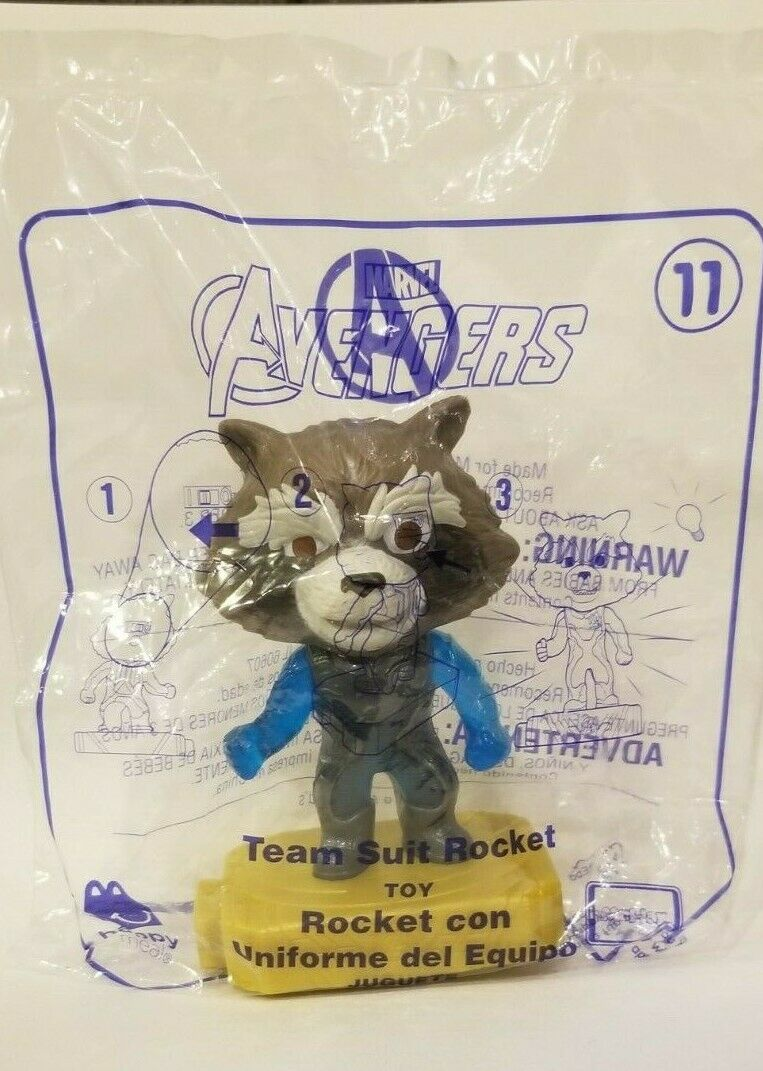 Avengers (2019) McDonalds Happy Meal Toys- Fast Shipping! #11 Team Suit Rocket