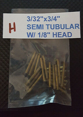 20 Pack Of Semi Tubular Brass Rivets 332 X 34 Antique Slot Machine H