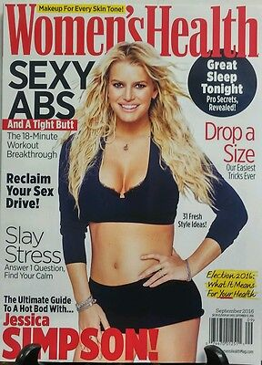 Women's Health Sept 2016 Jessica Simpson Sexy Abs Drop A Size FREE SHIPPING sb