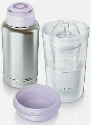 Philips Avent Thermal Bottle Flask Warmer On The Go Fast Warm Up