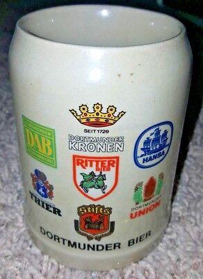Rare Dortmunder Krohen Bier MugWest Germany Man Cave Brewermania