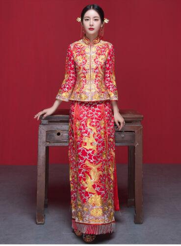 Chinese wedding dress QiPao Kwa Cheongsam 43a Special Traditional Quan Kwa