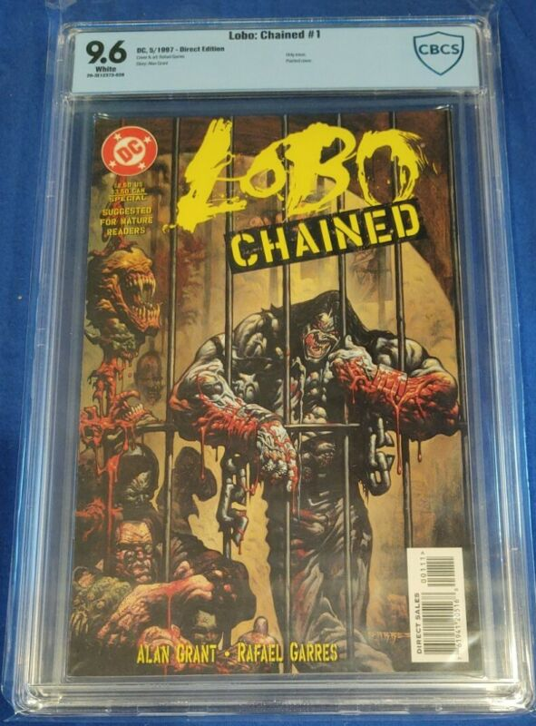 Lobo: Chained #1 CBCS 9.6 only issue painted cover white pages not cgc