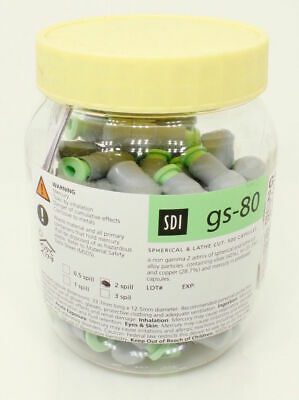 Dental Sdi Material Gs 80 Amalgam Alloy Regular Set 1 Spill 50 Per