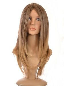 Long Sleek Straight Wig | Ombre Brown Blonde Red Shades | 'Snooki' Wig