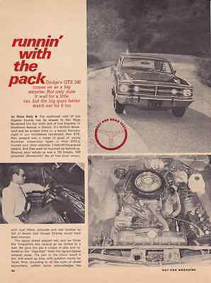 1968 DODGE DART GTS 340/275-HP  ~ NICE ORIGINAL 3-PAGE ROAD TEST / ARTICLE / AD