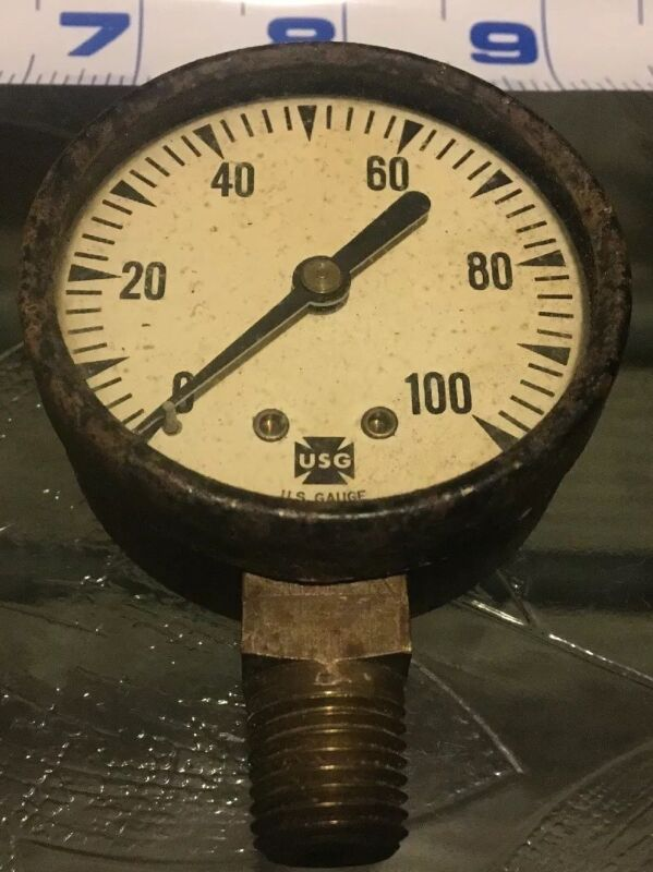 "*Vintage* US Gauge USG Steampunk Industrial Machine Age 3 1/2"" 12108-1"