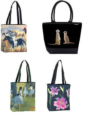1 Tasche m. Motiv Taschen Schultertasche Shoppertaschen Tiere Blumen Pferde neu - Pferde Schulter Tasche