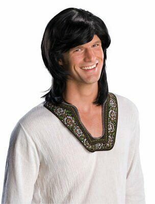 70's Guy Wig Retro Mod Fancy Dress Halloween Adult Costume Accessory 3 COLORS - Halloween Costumes 3 Guys