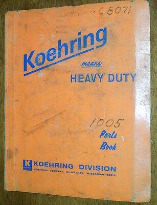 Koehring 1005-1a Excavator Parts Manual
