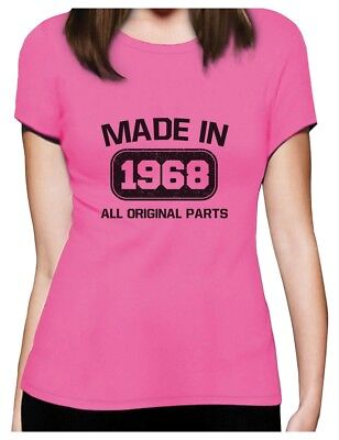 50th Birthday Gift Made In 1968 All Original Parts Women T-Shirt Bday Gift (50th Bday)