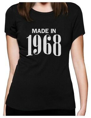 50th Birthday Gift Idea - Made In 1968 Women T-Shirt 50 Years Old Bday Gift - 50th Bday Ideas