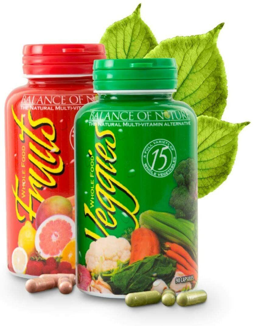 Balance Of Nature Fruit and Vegetable Supplements - 90 Fruit and 90 Veggie Capsu