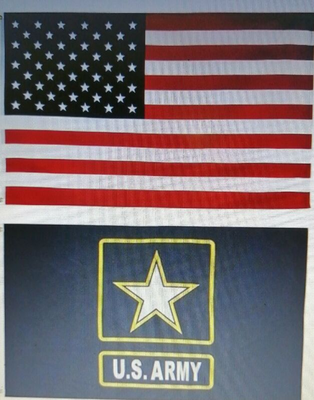 Mission Flags 3x5 ft. 2-Pack US American and US Army Polyester Flags