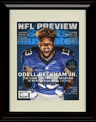 Framed Odell Beckham Jr  Sports Illustrated Autograph Print   Ny Giants