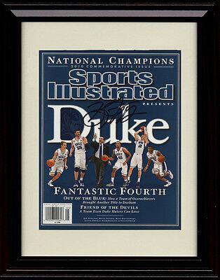 Duke Blue Devils Framed - Framed Duke Blue Devils Sports Illustrated Autograph Replica Print 2010 Champs