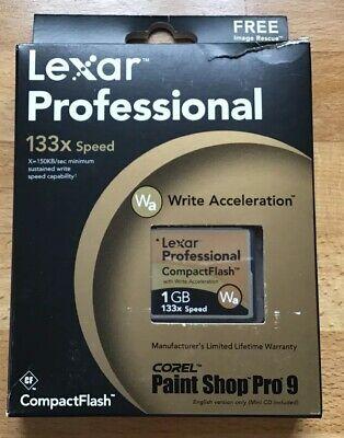 CF Memory Card 1GB Lexar Compact Flash Professional High Speed 133x WA NEW