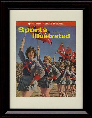 Ole Miss Rebels Frame (Framed Ole Miss Rebels Flag Girls Sports Illustrated Print -)