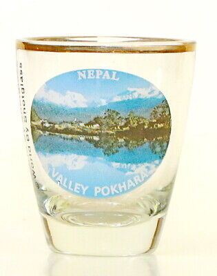 NEPAL VALLEY POKHARA SHOT GLASS SHOTGLASS