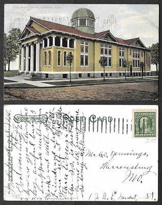 1911 Kansas Postcard   Coffeyville   First Baptist Church