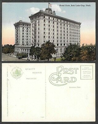 Old Hotel Utah Postcard - Salt Lake City - Souvenir Novelty Company #772  - Party City Salt Lake City