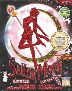 DVD Sailor Moon Collection Vol 1-200 anime + Sailormoon 3 movie