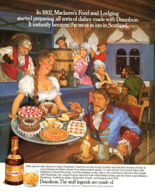 1989 vintage Liquer AD DRAMBUIE  ART Maclaren