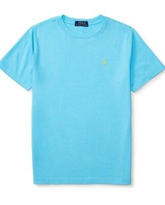 Polo Ralph Lauren Shortsleeve French Turquoise Crew Tee Shirt XL 18 20 Boys New
