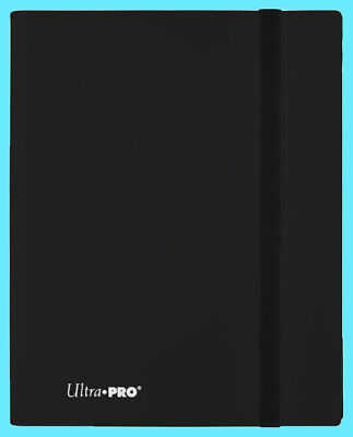 ULTRA PRO 9 POCKET ECLIPSE JET BLACK BINDER 360 Card 20 Side Load Pages mtg ccg