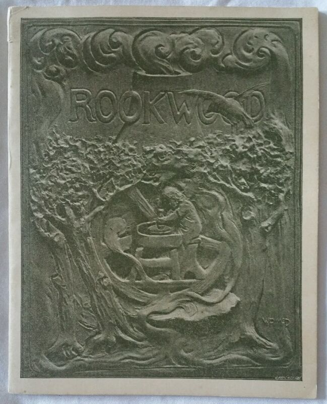 SUPERB RARE AUTHENTIC VERY FIRST ROOKWOOD POTTERY BOOKLET BOOK PAMPHLET. 1890