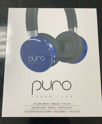 PURO SOUND LABS VOLUME LIMITED WIRELESS HEADPHONE FOR KIDS BT2200S SAPPHIRE BLUE