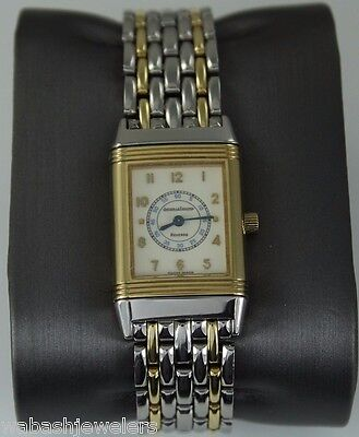 $8,000 Jaeger LeCoultre Reverso 260.5.08 18K Solid Yellow Gold Stainless Watch