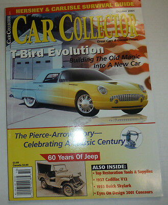Car Collector Magazine T Bird Evolution Pierce Arrow Story October 2001 030415R
