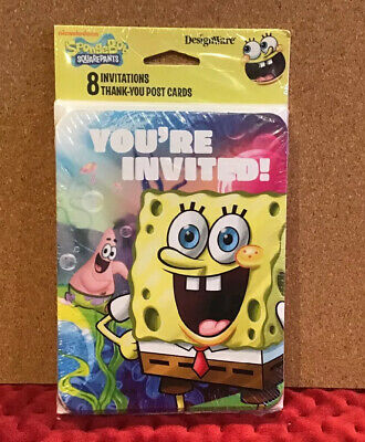 Spongebob Birthday Party Invitations (SpongeBob Squarepants Birthday Party)